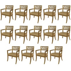 Italian Neoclassic Style Gilt-wood Armchairs