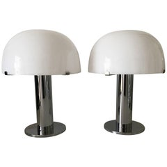 1980 Pair of Swedish Falbenberg Table Lamps, Model Taiba