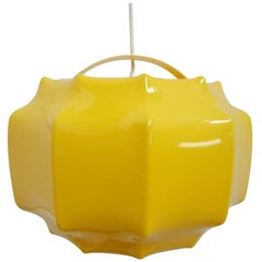 Ilka Plast Space Cocoon Pendant Light in Yellow