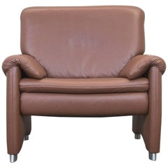 Hülsta Designer Armchair Brown Leather Couch Modern