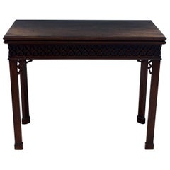 George III Mahogany Folding Card Table