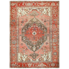 Room Size Antique Oriental Persian Serapi Rug