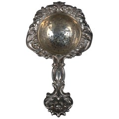 Antique Howard & Co. Sterling Silver Figural Strainer with Cherub, 18th Century