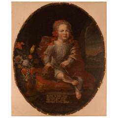 Memorial Portrait of an Unusual Child, Germany, circa 1750