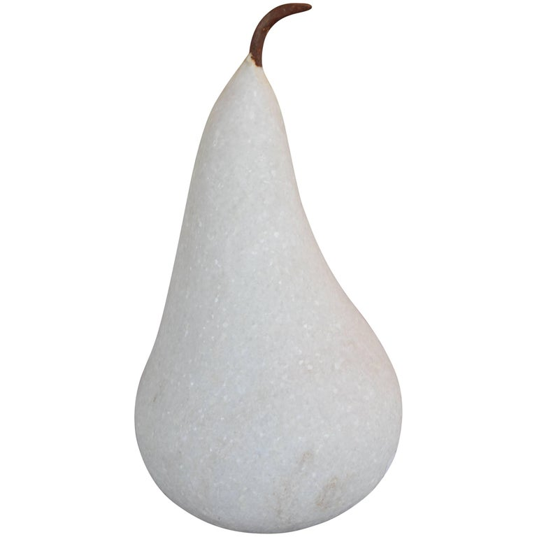 Large Marble Pear with Iron Stem