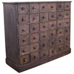 Antique French Apothecary Chest with Original Paint