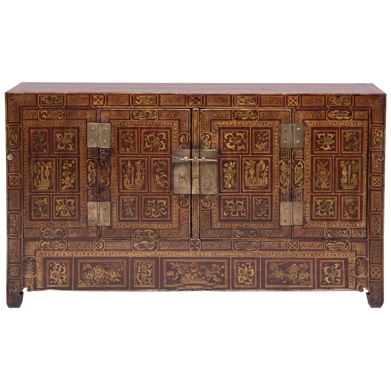 Chinese Square Corner Chest For Sale