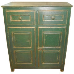 Two-Door, Two-Drawer Paneled Painted Buffet