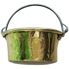 Early 19th Century French Yellow Copper Cauldron