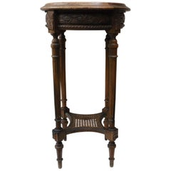 French Round Gueridon Style Louis XVI with Pink Marble