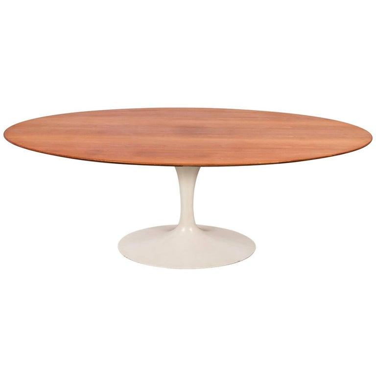 Eero saarinen oval walnut dining table for knoll for sale at 1stdibs - Oval saarinen dining table ...