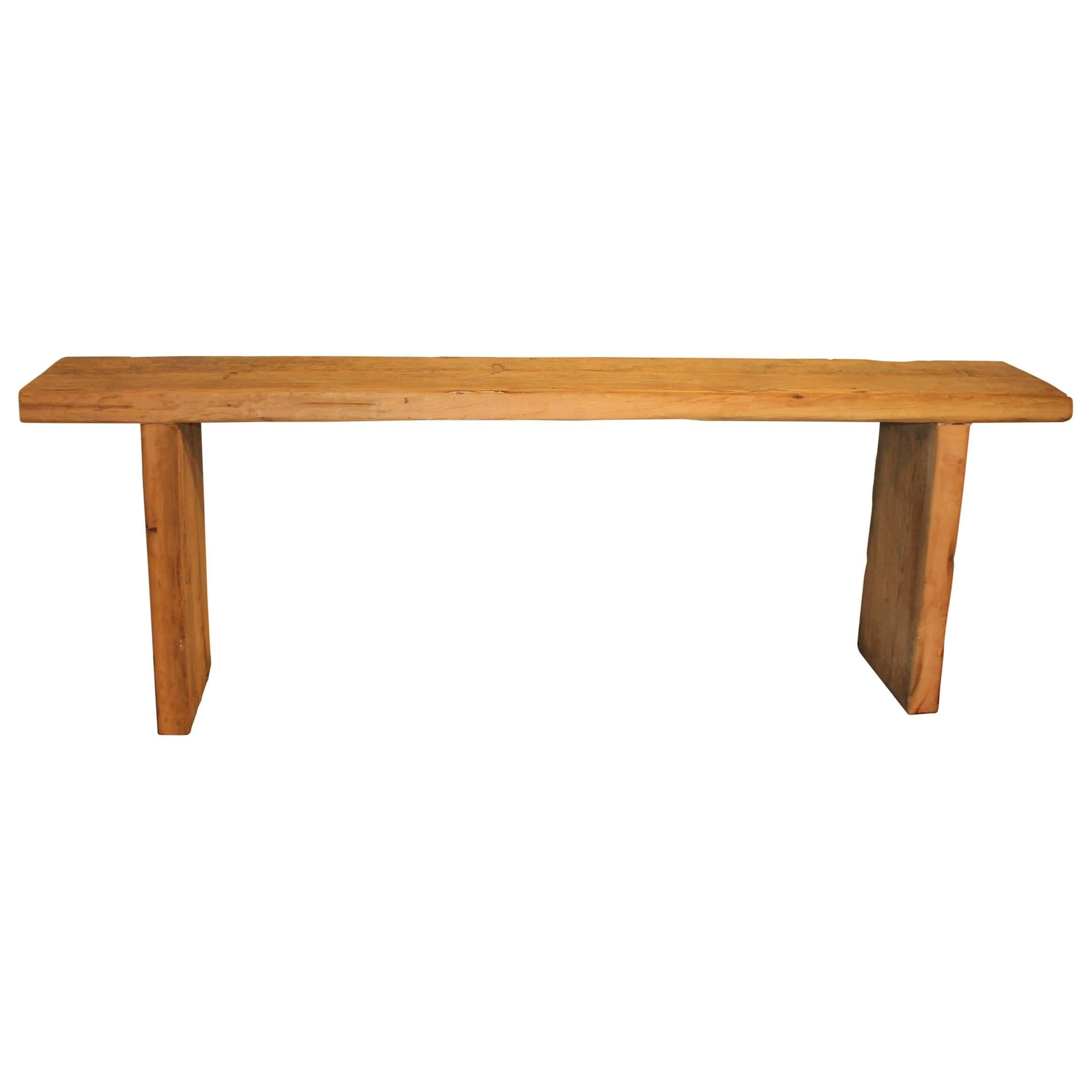 console table crafted from reclaimed elm