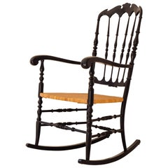 1960 Chiavari Rocking Chair for Fratelli Podestà, Italy