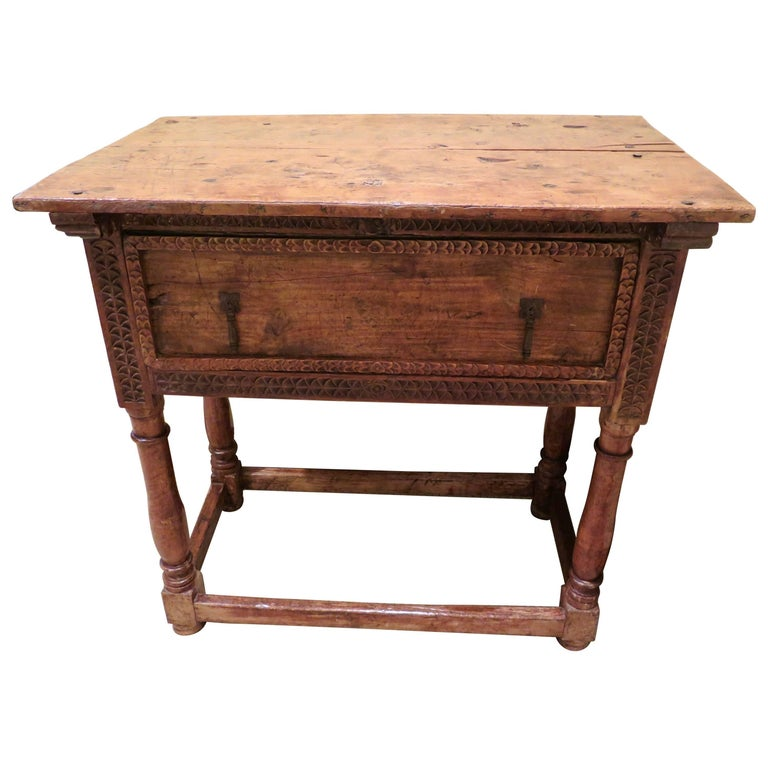 18th century spanish colonial table haskell antiques for sale at 1stdibs. Black Bedroom Furniture Sets. Home Design Ideas