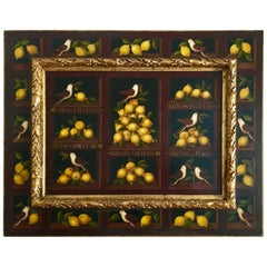"""Still Life of Birds and Lemons"" Studio of Miguel Canals"