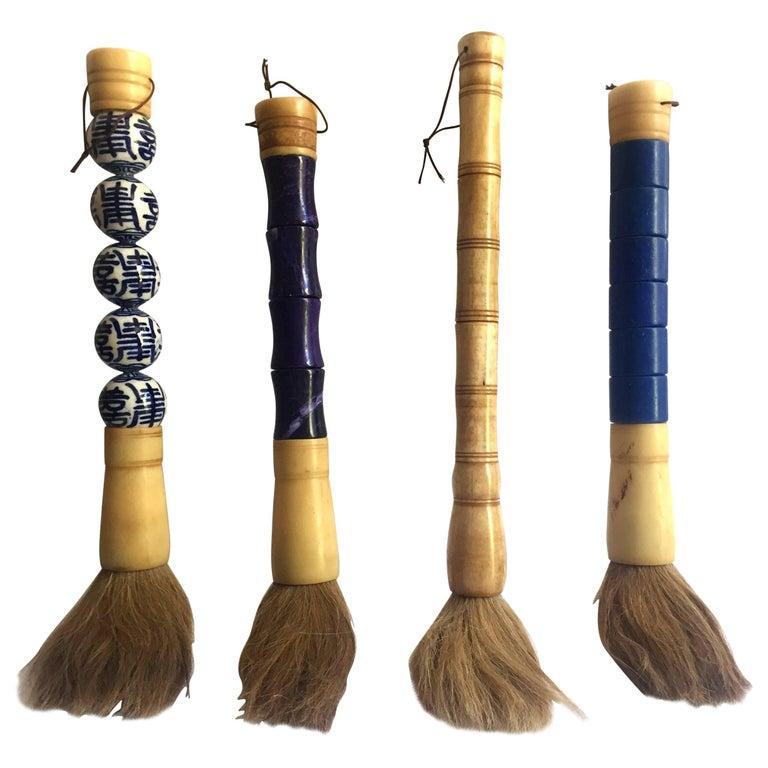 Chinese Brush Calligraphy Brush Set Of Four Stone And