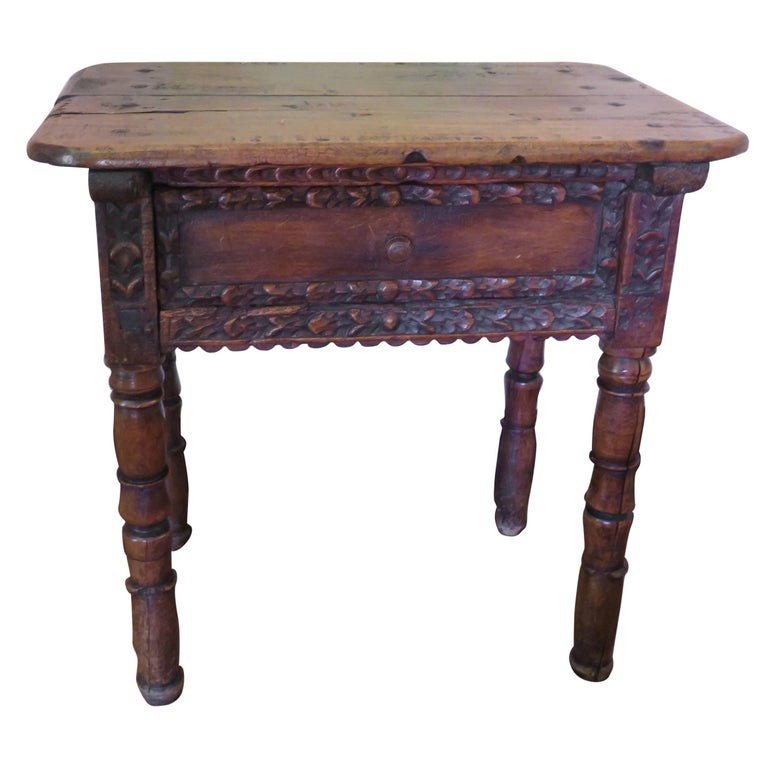18th Century Spanish Colonial Side Table Michael Haskell