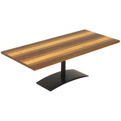 Milo Baughman Rectangular Coffee Table in Rosewood, Walnut, and Oak