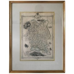 """1851 Engraved Map """"Russia in Europe"""" by John Rapkin Rare"""