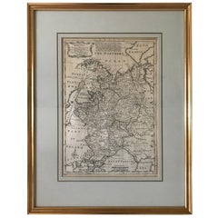 1747 Map of Moscovy or Russia in Europe by Emanuel Bowen, London