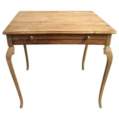 Weathered 18th Century Portuguese Desk with Cabriole Legs