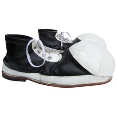 Vintage Black and White Ball Toe Clown Shoes