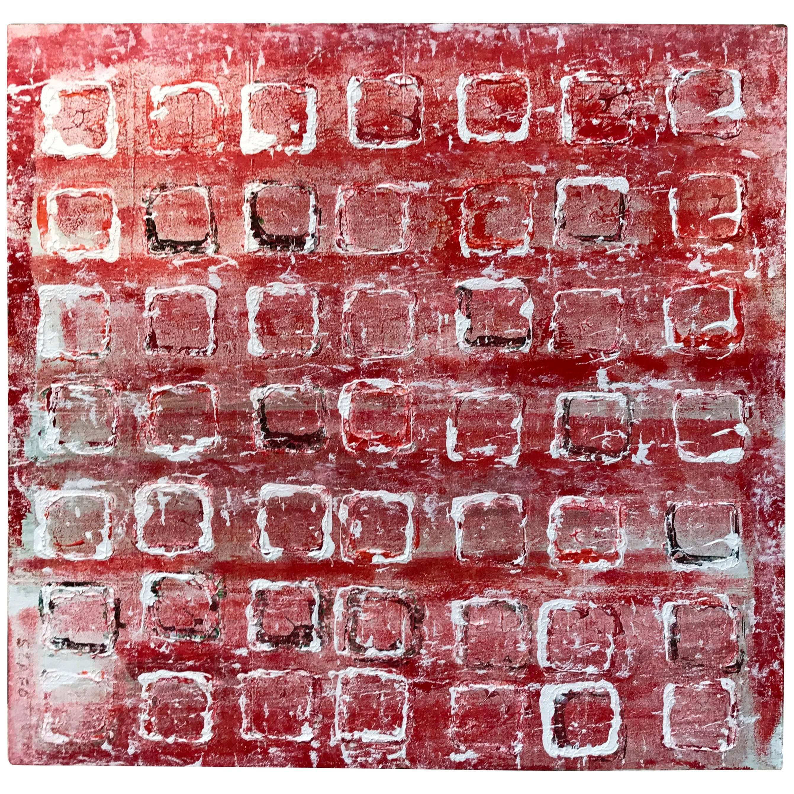 """Noted Artist John Szabo Acrylic on Panel """"Squares III"""""""