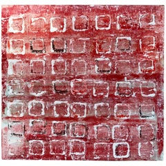 "Noted Artist John Szabo Acrylic on Panel ""Squares III"""