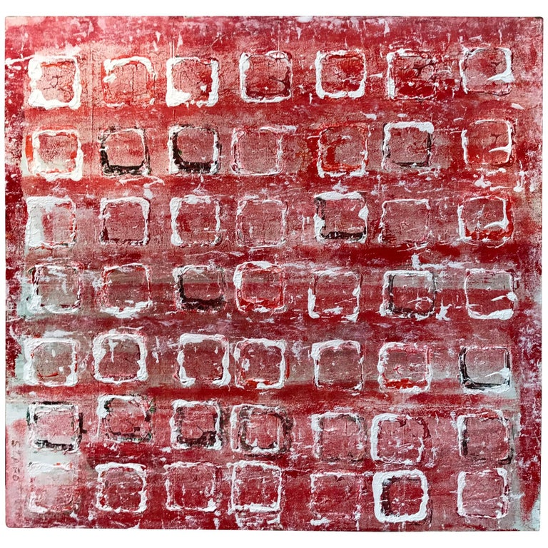 "Noted Artist John Szabo Acrylic on Panel ""Squares III"" 1"