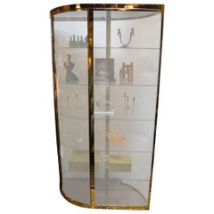Double-Sided Brass Vitrine