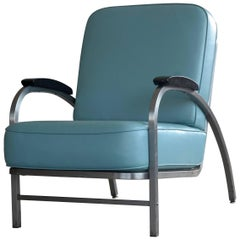 Art Deco Lounge Chair Model Flatiron for Rehab Furniture, USA