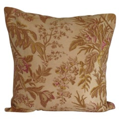 19th Century French Floral Accent Pillow