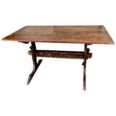 Antique Swedish Trestle Table, circa 1800
