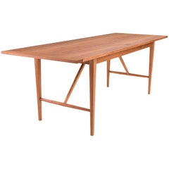 Hill Dining Table by Tretiak Works, Handcrafted Solid Cherry Shaker
