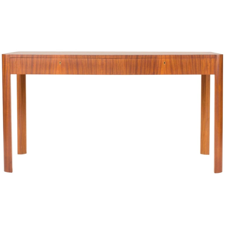 Mahogany Desk in the Style of Margareta Köhler