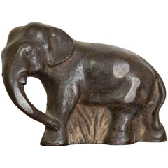 Cast Iron Elephant Door Stop