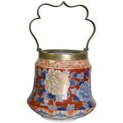 19th Century Imari Porcelain Vessel with Handle