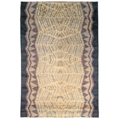 Vintage European Art Deco Area Rug