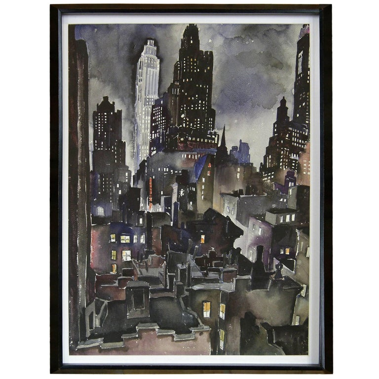 Ruth Van Sickle Ford Watercolor of New York City 1