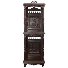 French Brittany Stand Carved in the Quimper Style, circa 1900