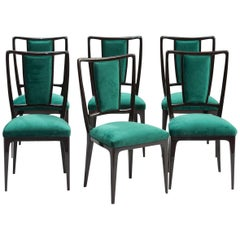 Vittorio Dassi Dining Chairs, Set of Six