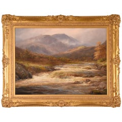 """Highland Torrent Near Callender"" Painting by William Lakin Turner"