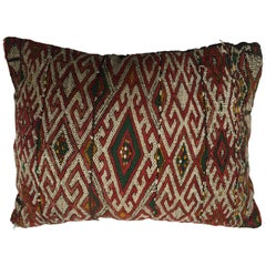 Moroccan Berber Handwoven Tribal Throw Pillow Made from a Vintage Rug