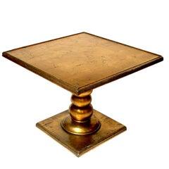 Hollywood Regency Gold Leaf End Table