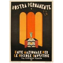 Italian Futurist Period Exhibition Poster by Mario Pompei, circa 1929