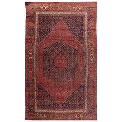 Antique 19th Century Persian Bidjar Rug