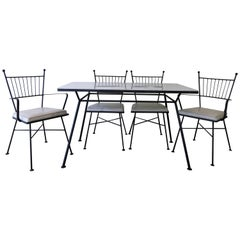 Vintage Five-Piece Patio Set in the Style of Paul McCobb