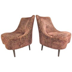 Pair of Vintage Dunbar Slipper Chairs by Edward Wormley