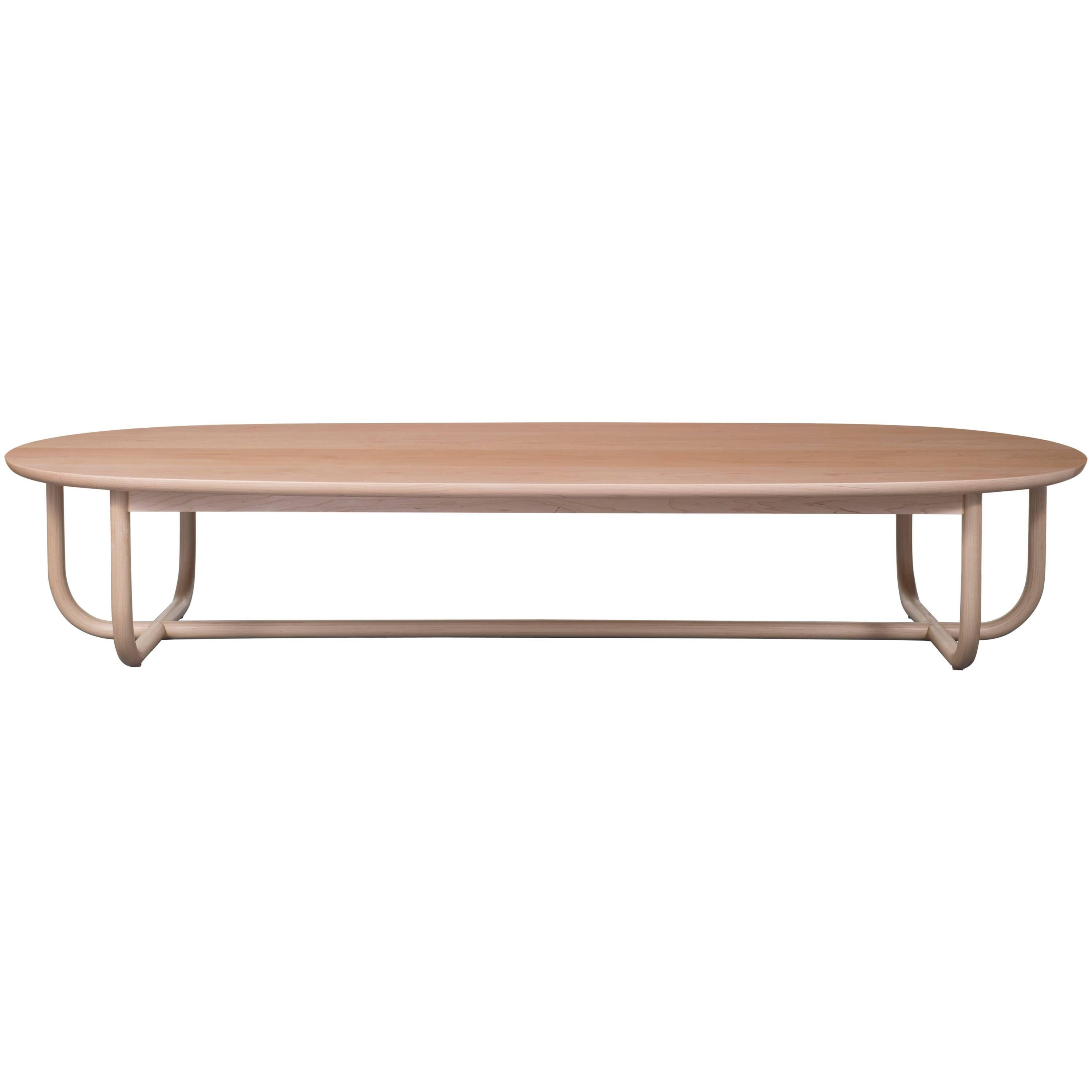Gathering Low Table in Solid Wood by Bowen Liu