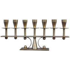 Danish Brass Candelabra